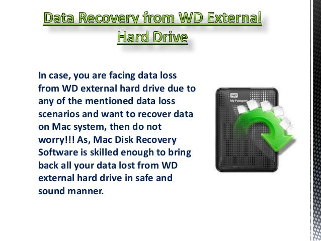 how to restore using western digital external hard drive