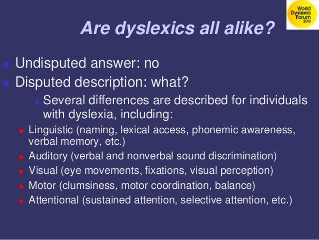 Attentional Dyslexia