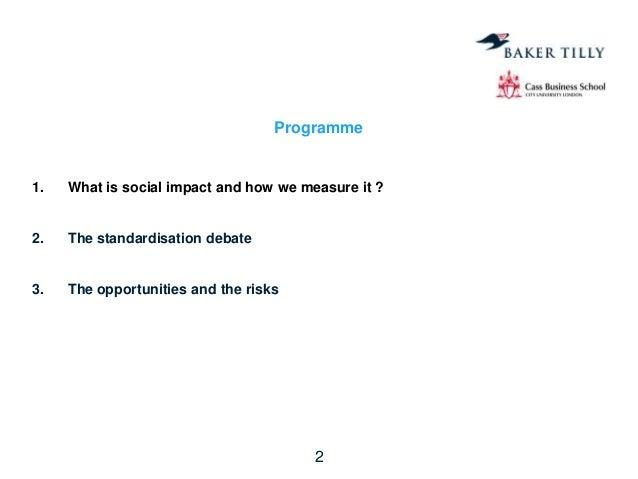 Wd jim clifford - Impact Evaluation by Social Enterprises: Measuring the un-measurable Slide 2