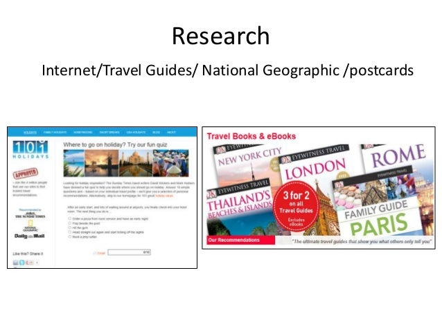 Research Internet/Travel Guides/ National Geographic /postcards