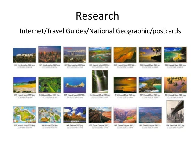 Research Internet/Travel Guides/National Geographic/postcards