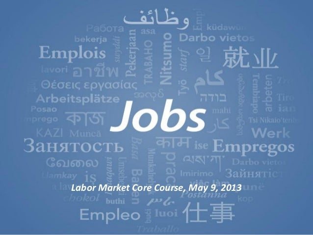 World Development Report2013 The World Bank3/13/2012Moving jobs to center stage 1Labor Market Core Course, May 9, 2013