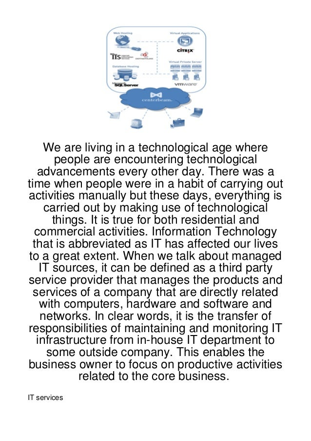 We are living in a technological age where        people are encountering technological   advancements every other day. Th...