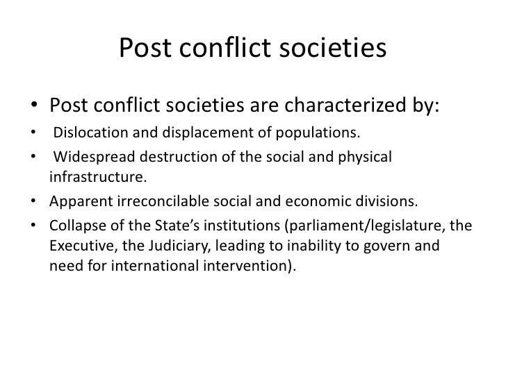 conflict model of society