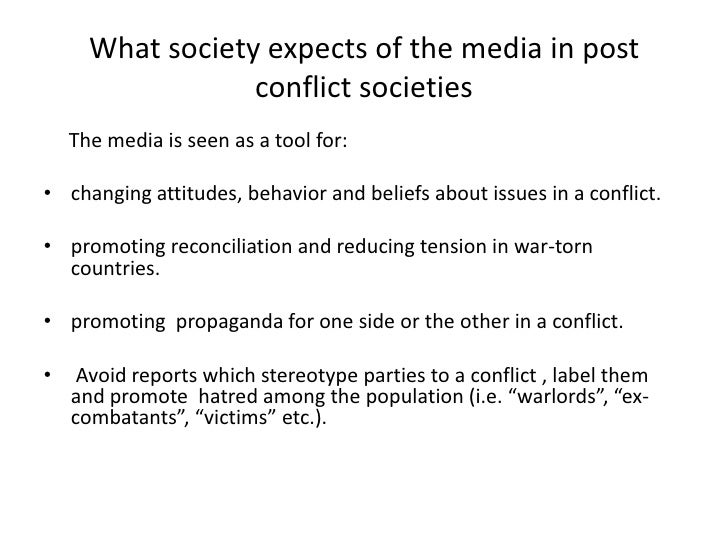 societies in conflict Societies are defined by inequality that produces conflict, rather than order and consensus this conflict based on inequality can only be overcome through a.