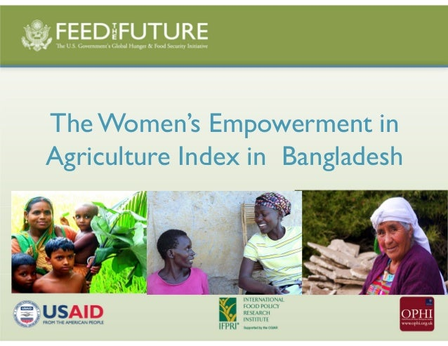 The Women's Empowerment in Agriculture Index in Bangladesh