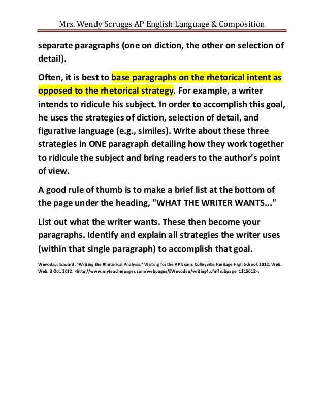 example rhetorical analysis essay