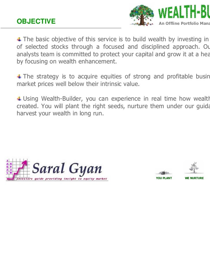 OBJECTIVE                                            An Offline Portfolio Management Service  The basic objective of this ...