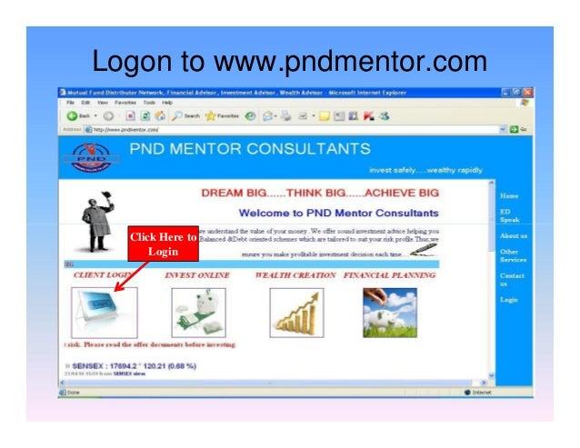 Logon to www.pndmentor.com Click Here to Login