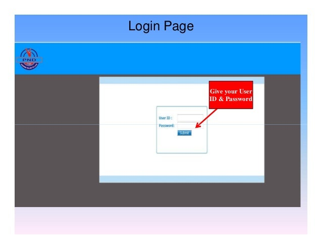 Give your User ID & Password Login Page