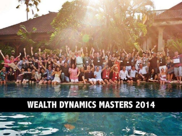 Wealth Dynamics Masters  These slides are from the one week business building  event, Wealth Dynamics Masters, held annual...