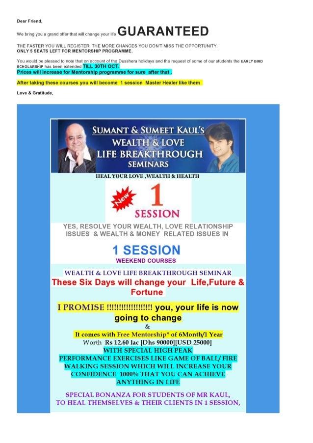 Wealth&love life breakthrough india
