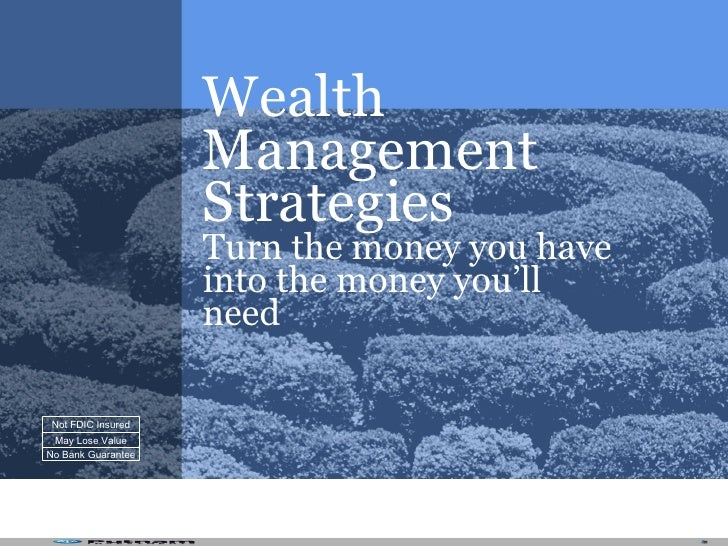 Wealth                     Management                     Strategies                     Turn the money you have          ...