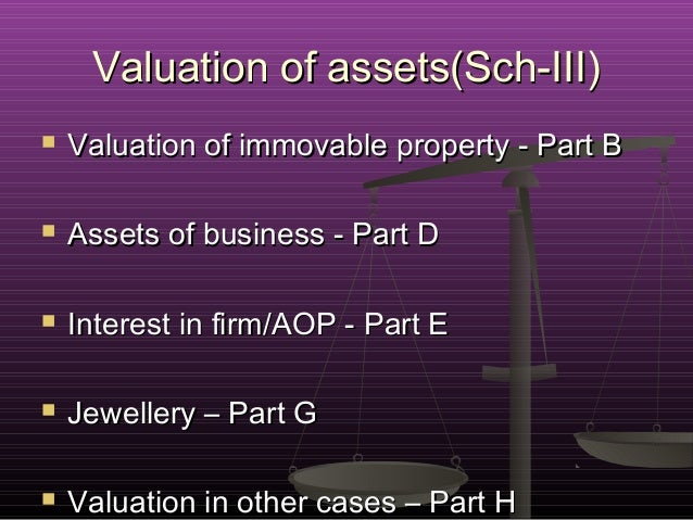 Valuation Of Immovable Property For Wealth Tax