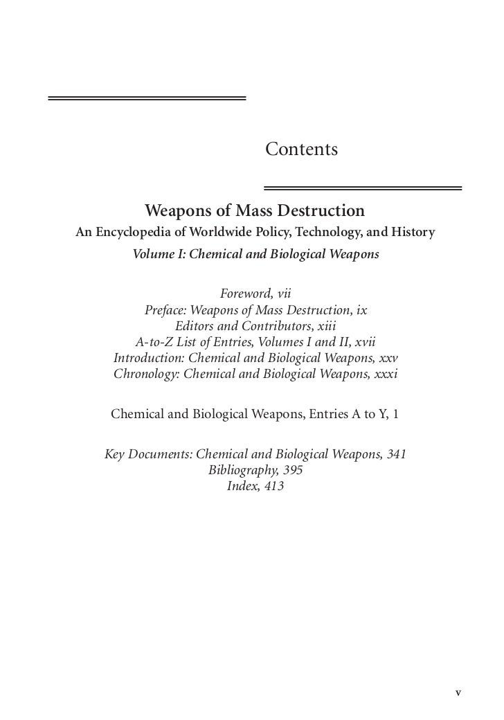 weapons of mass destruction essay example