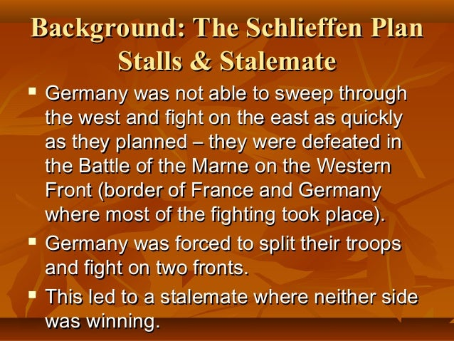breaking the stalemate on the western front essay An overview of strategies and tactics to break the stalemate including key battles:  it came to symbolise the futility of much of the fighting on the western front .