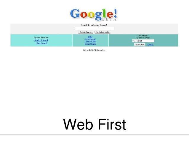 Web First