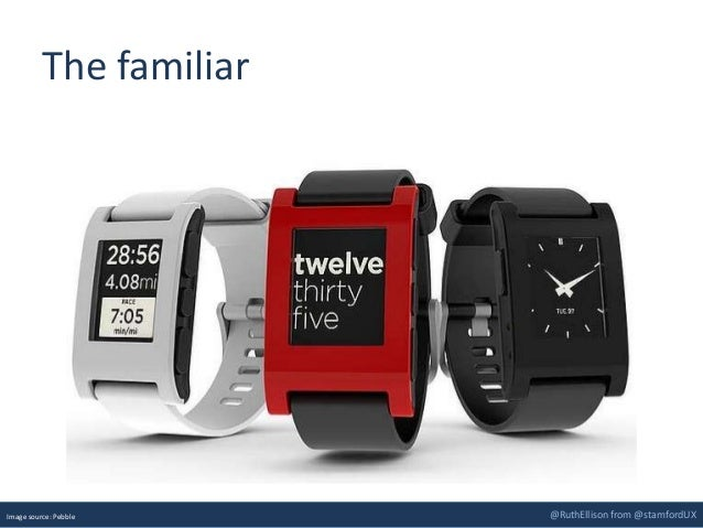 @RuthEllison from @stamfordUX The familiar Image source: Pebble