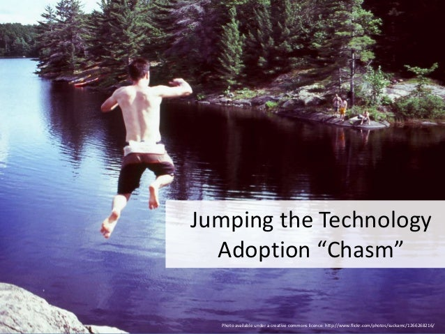 """@RuthEllison from @stamfordUX Jumping the Technology Adoption """"Chasm"""" Photo available under a creative commons licence: ht..."""