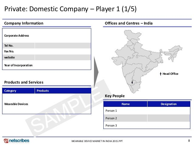 8 Key People Products and Services Company Information Offices and Centres – India Corporate Address Tel No. Fax No. websi...