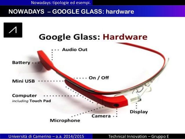 INDICENOWADAYS – GOOGLE GLASS: hardware Nowadays: tipologie ed esempi. Università di Camerino – a.a. 2014/2015 Technical I...