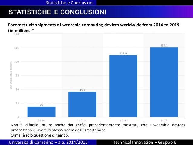 INDICE Statistiche e Conclusioni. Università di Camerino – a.a. 2014/2015 Technical Innovation – Gruppo E STATISTICHE E CO...