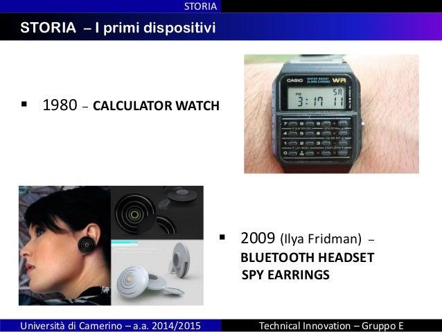 INDICESTORIA – I primi dispositivi STORIA Università di Camerino – a.a. 2014/2015 Technical Innovation – Gruppo E  1980 –...
