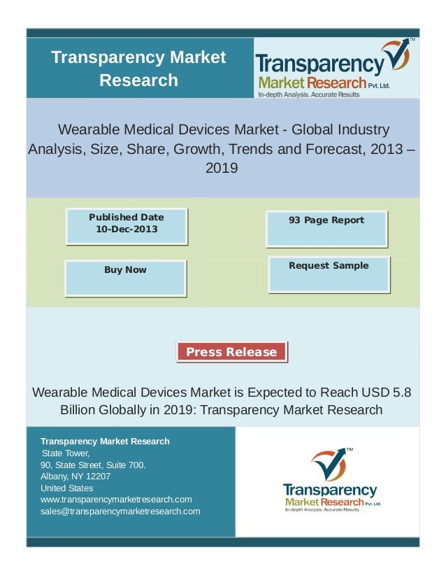 Transparency Market Research Wearable Medical Devices Market - Global Industry Analysis, Size, Share, Growth, Trends and F...