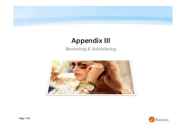 Page  124 Appendix III Marketing & Advertising