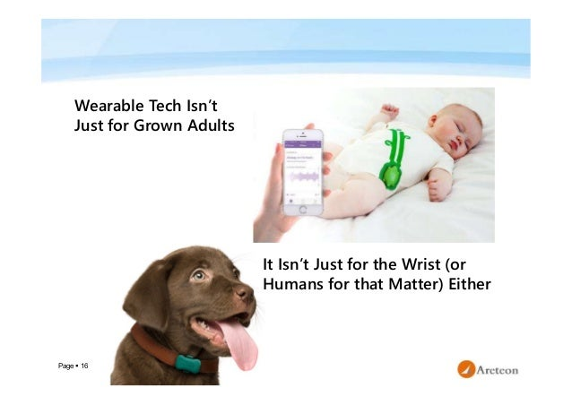 Page  16 Wearable Tech Isn't Just for Grown Adults It Isn't Just for the Wrist (or Humans for that Matter) Either