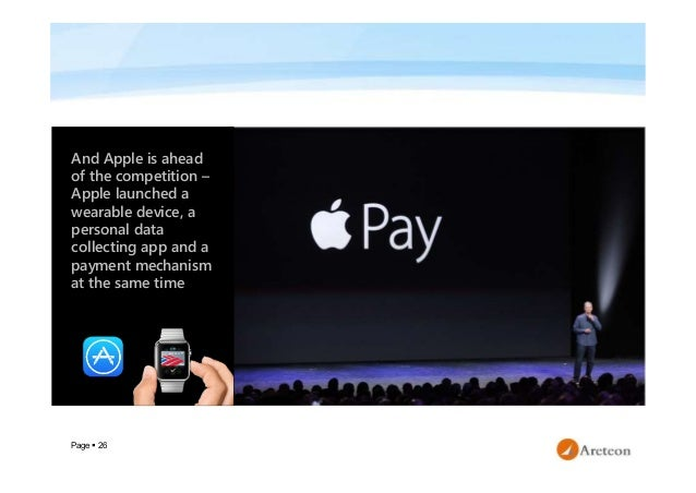 Page  26 And Apple is ahead of the competition – Apple launched a wearable device, a personal data collecting app and a p...