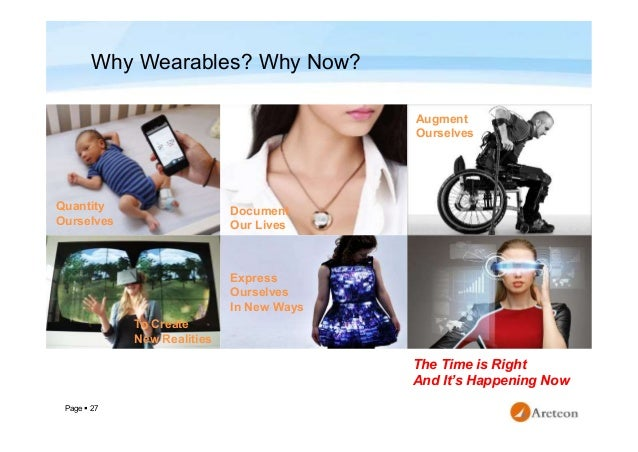 Page  27 Why Wearables? Why Now? Document Our Lives Augment Ourselves To Create New Realities Express Ourselves In New Wa...