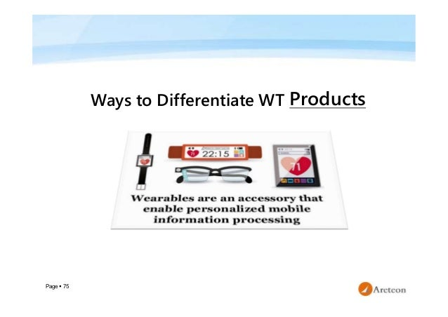 Page  75 Ways to Differentiate WT Products