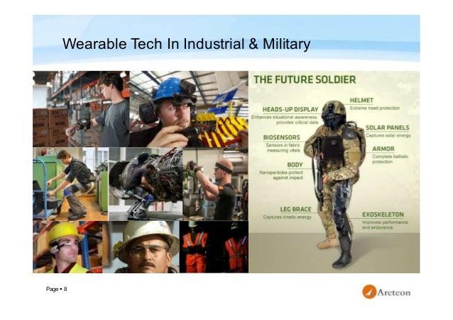 Page  8 Wearable Tech In Industrial & Military