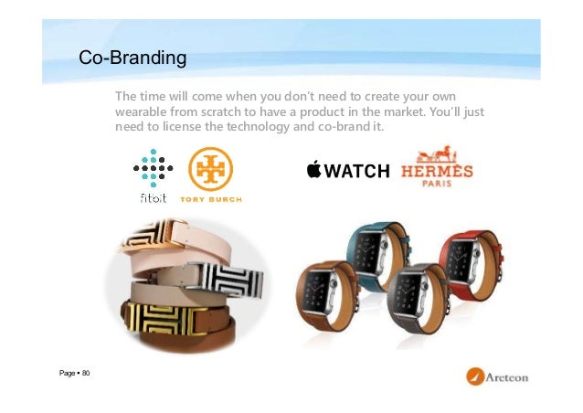 Page  80 Co-Branding The time will come when you don't need to create your own wearable from scratch to have a product in...