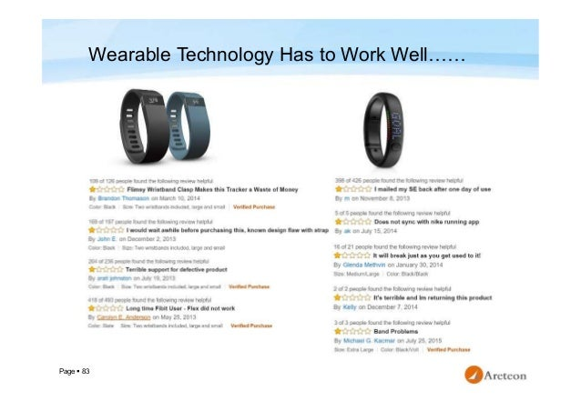 Page  83 Wearable Technology Has to Work Well……