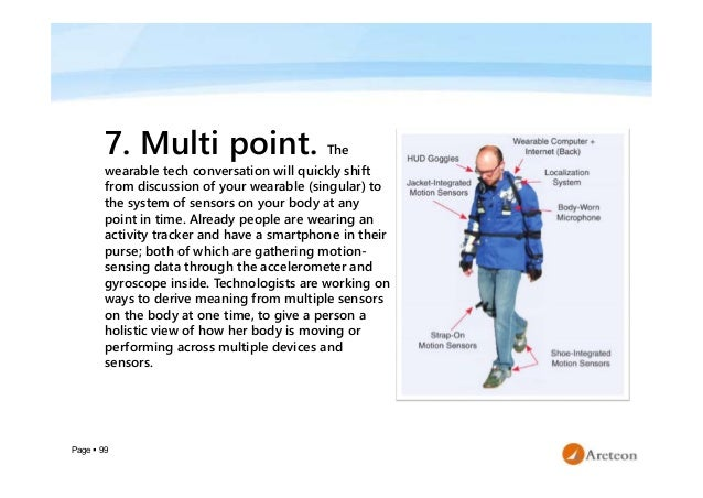 Page  99 7. Multi point. The wearable tech conversation will quickly shift from discussion of your wearable (singular) to...