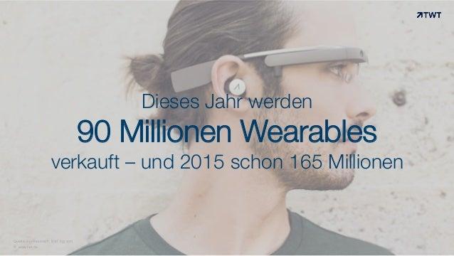 Dieses Jahr werden  90 Millionen Wearables verkauft – und 2015 schon 165 Millionen  Quelle: Abi Research; Bild: bgr.com © ...