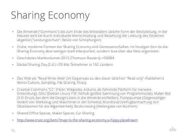 """Sharing Economy • Die Almende (""""Commons""""); bis zum Ende des Mittelalters übliche Form der Besitzteilung. In der Neuzeit wi..."""