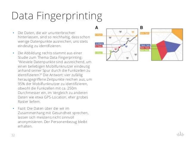 Data Fingerprinting • Die Daten, die wir ununterbrochen hinterlassen, sind so reichhaltig, dass schon wenige Datenpunkte a...