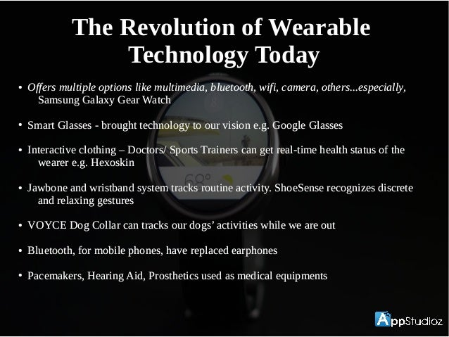 Wearable Tech- What Experts say?Wearable Tech- What Experts say? Steve Power Brown, Intel chief evangelist and futurist - ...