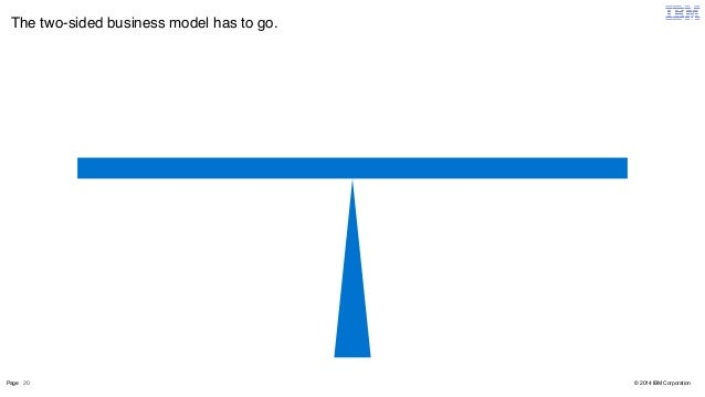 The two-sided business model has to go.  Page 20  © 2014 IBM Corporation