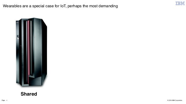 Wearables are a special case for IoT, perhaps the most demanding  Page 4  © 2014 IBM Corporation  Shared