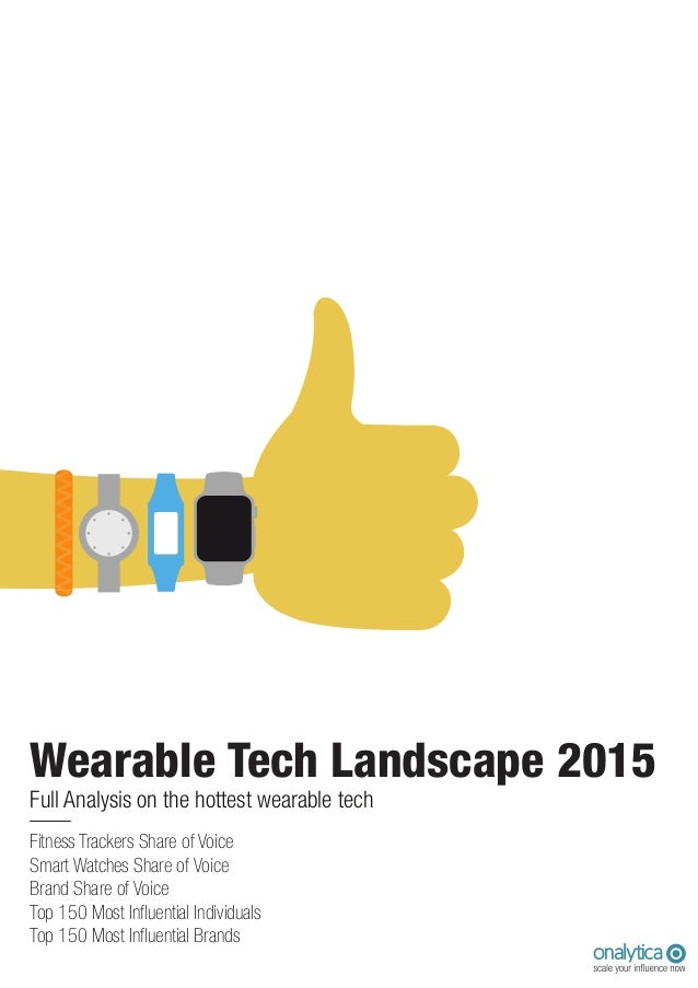 Wearable Tech Landscape 2015 Top 150 Most Influential Individuals Top 150 Most Influential Brands Smart Watches Share of V...