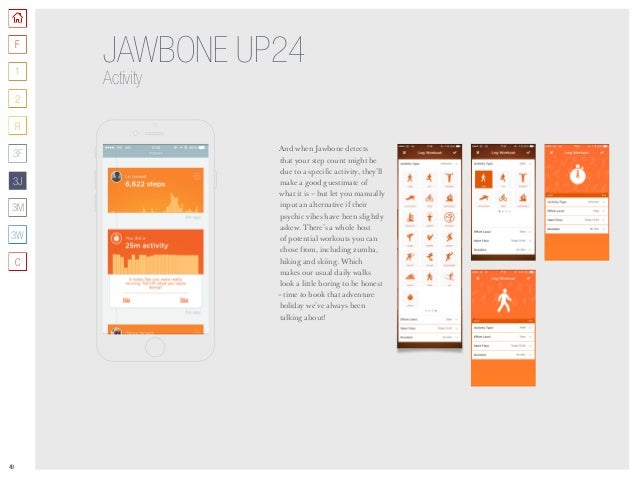 49 JAWBONE UP24 Activity And when Jawbone detects that your step count might be due to a specific activity, they'll make a...