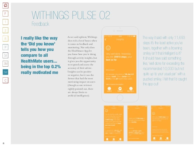 85 As we said upfront, Withings does tick a lot of boxes when it comes to feedback and monitoring. Not only does the Healt...