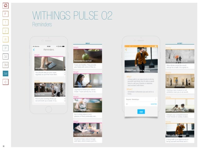 90 WEIGHT WITHINGS PULSE O2 Reminders ACTIVITY F 3W 1 2 R C 3J 3M 3F