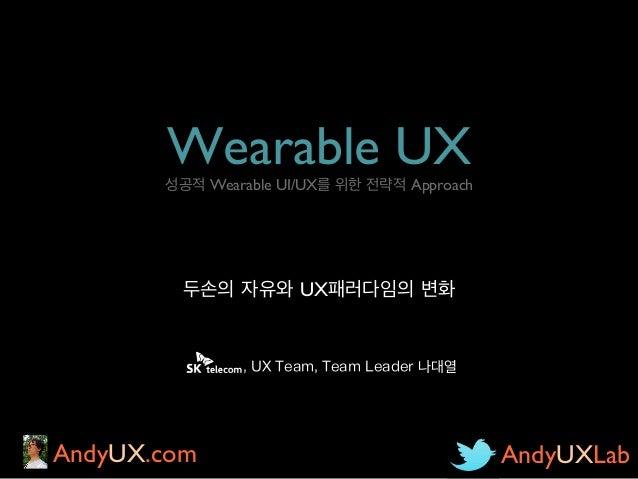 Wearable UX