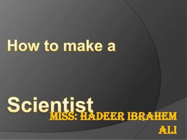 Miss: Hadeer Ibrahem Ali