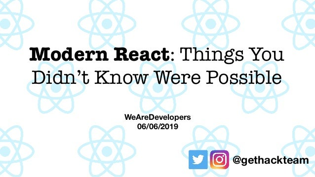 We Are Developers - Modern React (Suspense, Context, Hooks